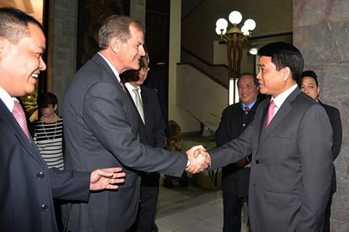 Une delegation religieuse americaine en visite a Hanoi hinh anh 1