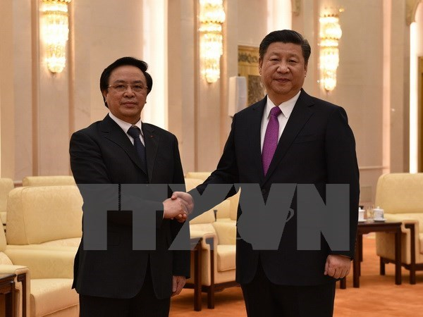 Le president chinois Xi Jinping recoit l'envoye special du leader du PCV hinh anh 1