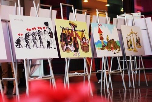 Remise des prix du concours de dessins satiriques sur l'egalite des sexes hinh anh 1