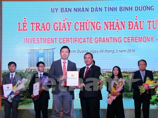 Binh Duong: 695 millions de dollars d'investissements depuis debut 2016 hinh anh 1