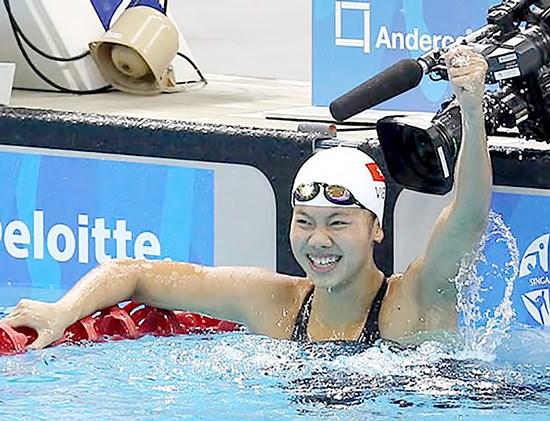La nageuse Anh Vien remporte de l'argent en Floride hinh anh 1
