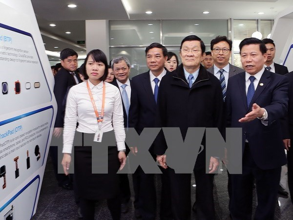 Le chef de l'Etat Truong Tan Sang en visite a Bac Ninh hinh anh 1