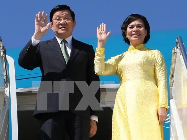 Truong Tan Sang part pour la Tanzanie, le Mozambique et l'Iran hinh anh 1