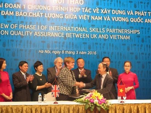 Vietnam et Royaume-Uni cooperent dans la formation professionnelle hinh anh 1