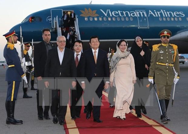 Truong Tan Sang entame sa visite d'Etat en Iran hinh anh 1