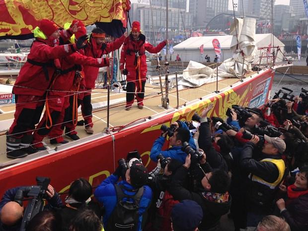 Course Clipper Race 2015-2016 dans la baie de Qingdao (Chine) hinh anh 1