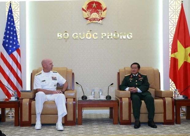 Vietnam, Etats-Unis resserent leur cooperation dans la marine hinh anh 1