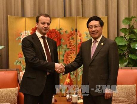 Le vice-PM Pham Binh Minh rencontre le PM chinois et le vice-PM russe hinh anh 2