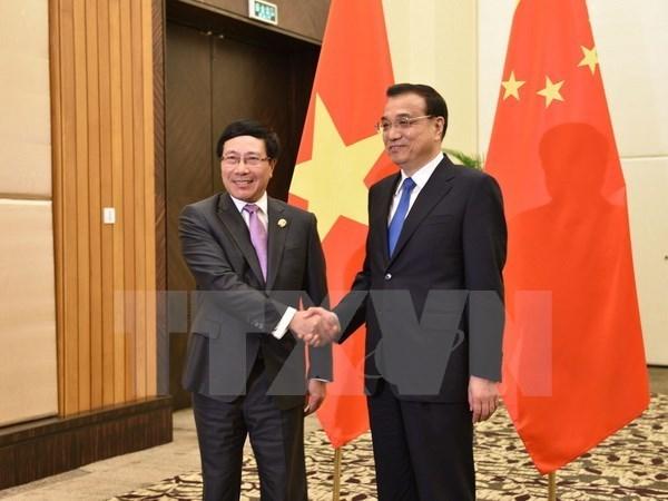 Le vice-PM Pham Binh Minh rencontre le PM chinois et le vice-PM russe hinh anh 1