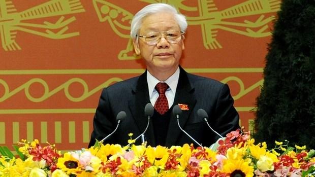 Des dirigeants etrangers se felicitent de la reelection du secretaire general du PCV hinh anh 1