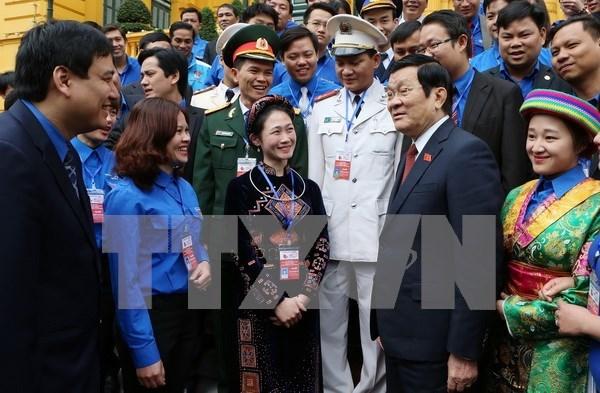 Truong Tan Sang demande a la jeunesse de valoriser son role hinh anh 1