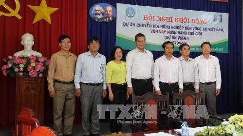 Agriculture : lancement d'un projet de VnSAT a Long An hinh anh 1