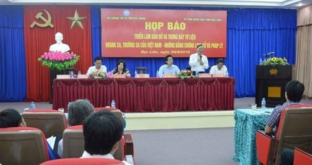 Exposition sur les archipels vietnamiens de Hoang Sa et Truong Sa a Bac Lieu hinh anh 1