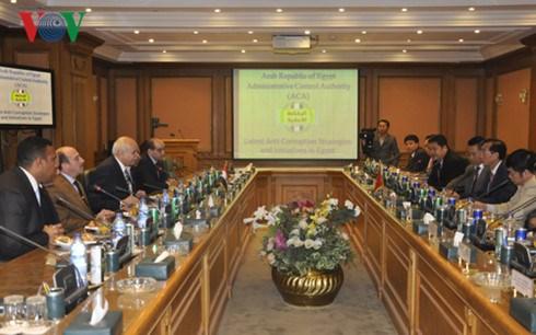 Vietnam et Egypte partagent des experiences dans la lutte anti-corruption hinh anh 1
