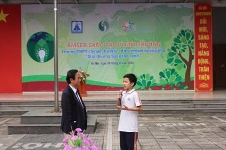 Lancement du concours sur la protection de l'environnement a Hanoi hinh anh 1