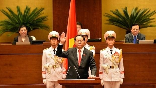 Messages de felicitation au president de la Republique Tran Dai Quang hinh anh 1