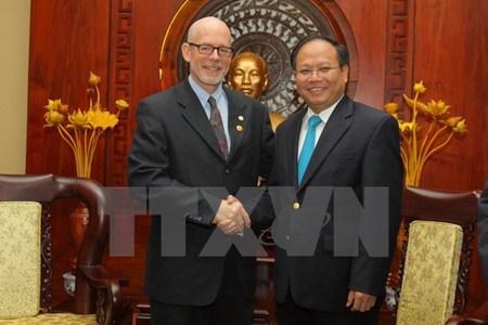 Le president du Parti communiste des Etats-Unis a Ho Chi Minh-Ville hinh anh 1