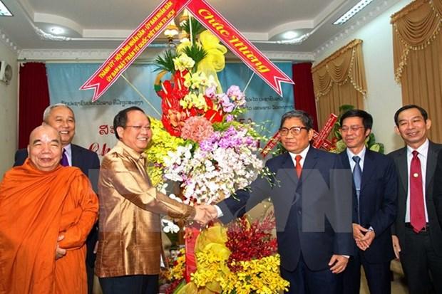 Ho Chi Minh-Ville felicite le Laos et le Cambodge pour le Nouvel An hinh anh 1