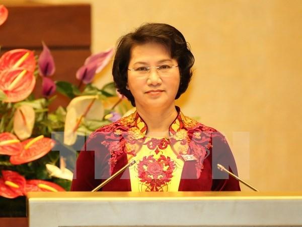 L'AN approuve la demission des vice-presidents et membres du CNE et du Conseil de la defense hinh anh 1