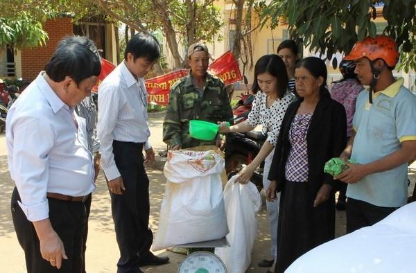 Distribution de riz pour les ethnies minoritaires a Dak Lak hinh anh 1