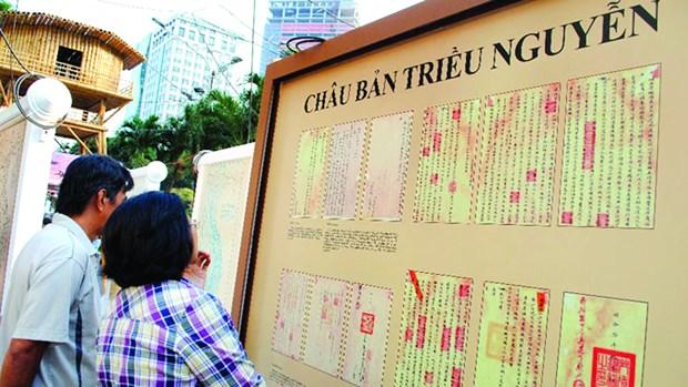 Exposition sur les Chau ban de la dynastie des Nguyen a Hue hinh anh 1