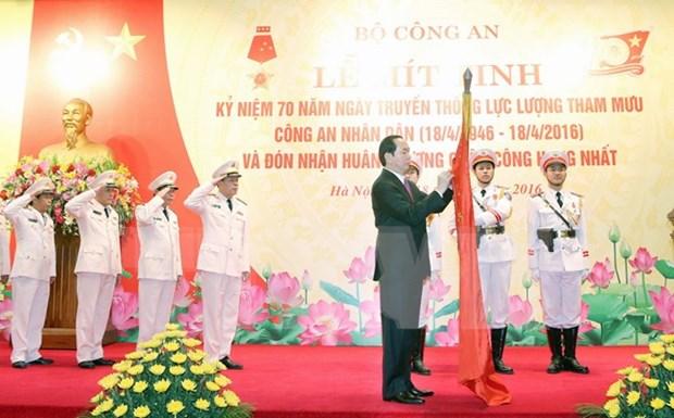 Celebration des 70 ans de l'etat-major de la Securite publique hinh anh 1