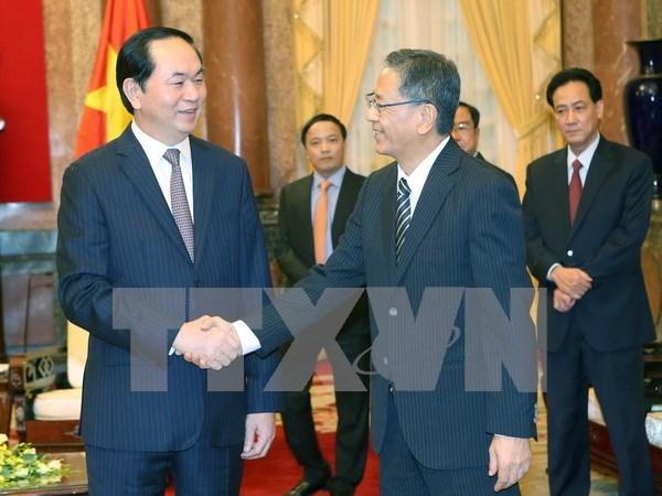 Le president Tran Dai Quang recoit les ambassadeurs de Russie et du Japon hinh anh 2