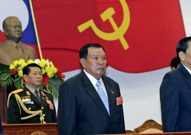 Felicitations aux hauts dirigeants laotiens hinh anh 1