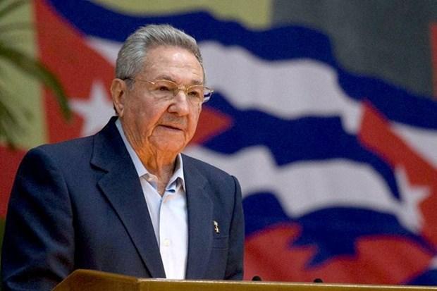 Le chef du PCV felicite le 1er secretaire du Parti communiste cubain hinh anh 1