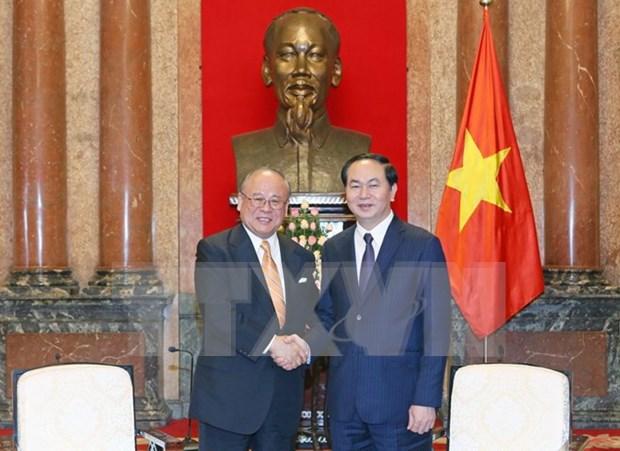 Le president Tran Dai Quang plaide pour le developpement des liens Vietnam-Japon hinh anh 1