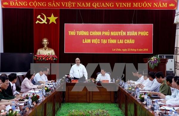 Le Premier ministre Nguyen Xuan Phuc en tournee a Lai Chau hinh anh 1