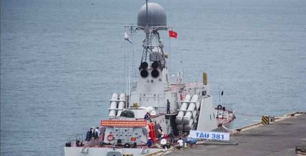Le navire 381 du Vietnam va participer a un exercice dans le cadre de l'ADMM+ hinh anh 1