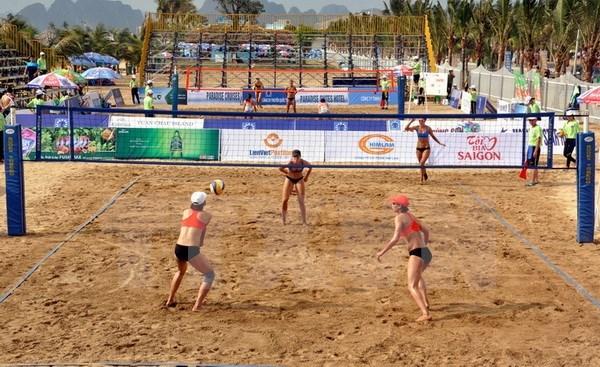 Ouverture du championnat de volleyball de plage pour femme d'Asie 2016 hinh anh 1