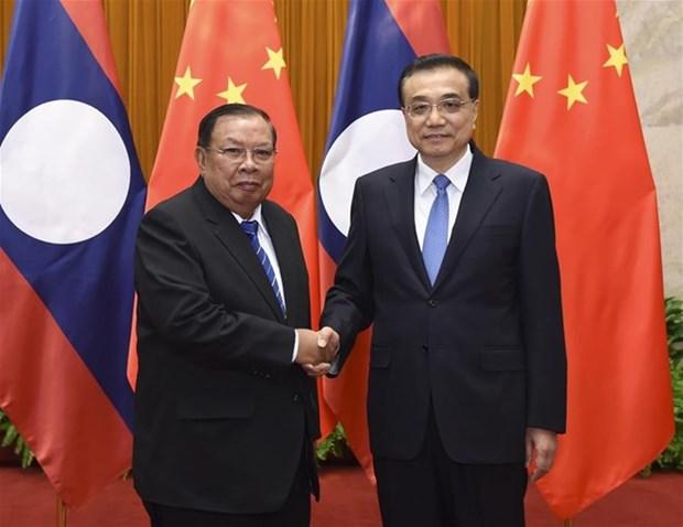 La Chine et le Laos conviennent de renforcer leur partenariat strategique integral hinh anh 1