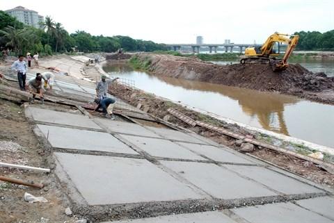 Hanoi: Mise en service d'ouvrages d'evacuation des eaux avant la saison des pluies hinh anh 1