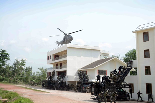 Exercice ADMM+ : simulation d'attaque terroriste a Singapour hinh anh 2