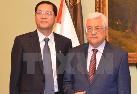 Vietnam et Palestine soutiennent le reglement pacifique des differends hinh anh 1