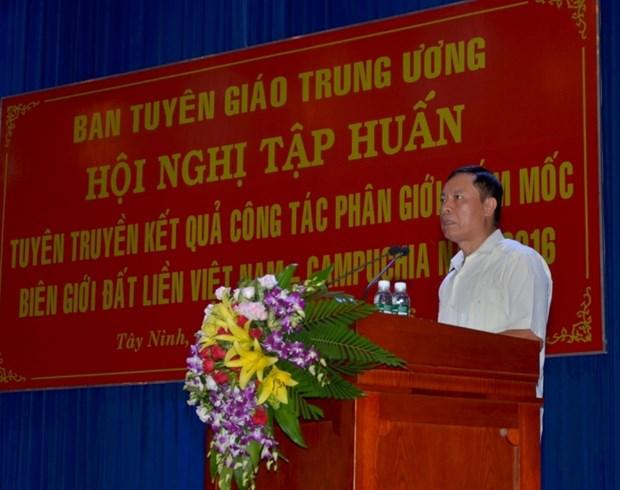 Tay Ninh : reunion sur le bornage des frontieres Vietnam-Cambodge hinh anh 1