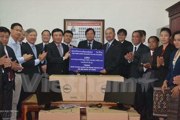 Vietnam-Laos: les Academies de politique intensifient leur cooperation hinh anh 1