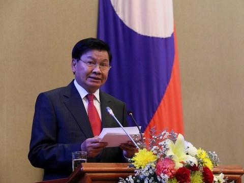 Le Premier ministre laotien debute sa visite au Vietnam hinh anh 1