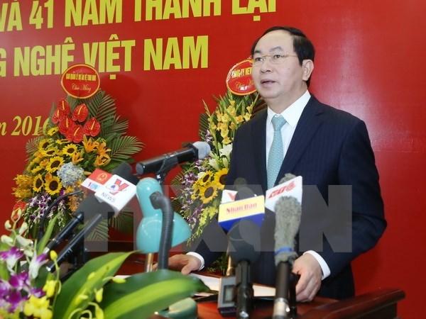 Le president Tran Dai Quang appelle les chercheurs a contribuer au developpement national hinh anh 1