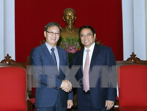 Un responsable du PCV recoit l'ambassadeur du Laos hinh anh 1