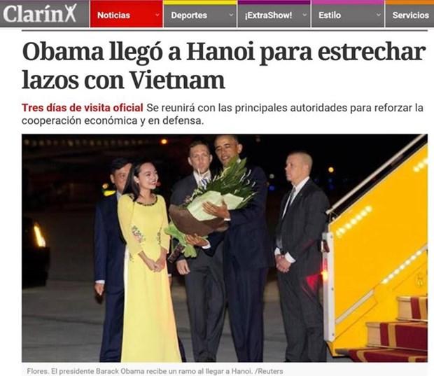 La presse argentine et italienne parle de la visite du president Obama au Vietnam hinh anh 1