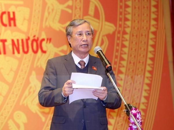 Le leader du PPRL Bounnhang Vorachith recoit une delegation du PCV hinh anh 1