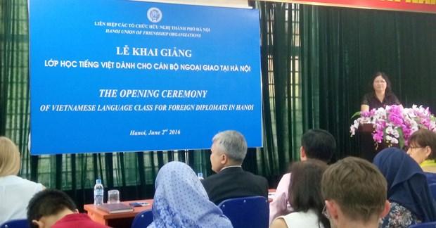 Une formation de vietnamien pour les diplomates etrangers ouverte a Hanoi hinh anh 1