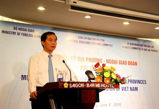 Rencontre entre les localites du Tay Nguyen et le corps diplomatique au Vietnam hinh anh 1