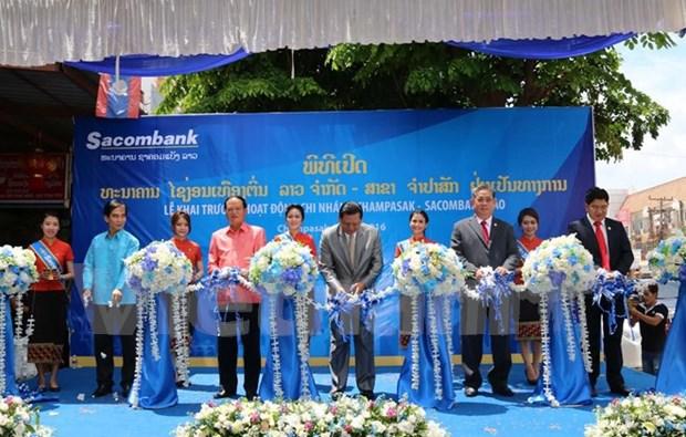 Sacombank Laos inaugure une succursale a Champassak hinh anh 1