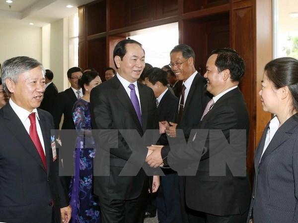 Poursuite des activites du president Tran Dai Quang au Laos hinh anh 1