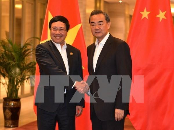 Rencontre des ministres vietnamien et chinois des Affaires etrangeres hinh anh 1