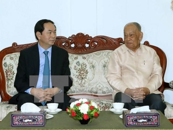 Le president du Vietnam termine sa visite d'Etat au Laos hinh anh 2